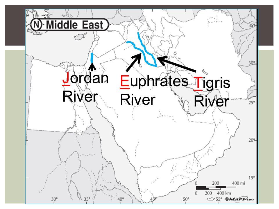 Jordan River Middle East Map.Ancient Middle East Map Jordan River