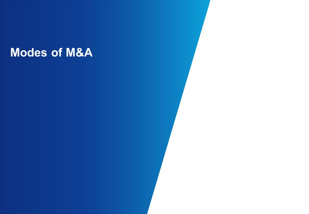 Modes of M&A