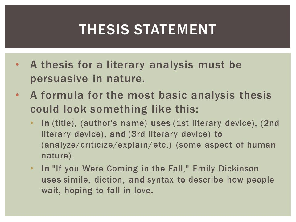main thesis of an article This is the main focus of your critique massey university, auckland, 2004 the introduction eg their thesis statement.