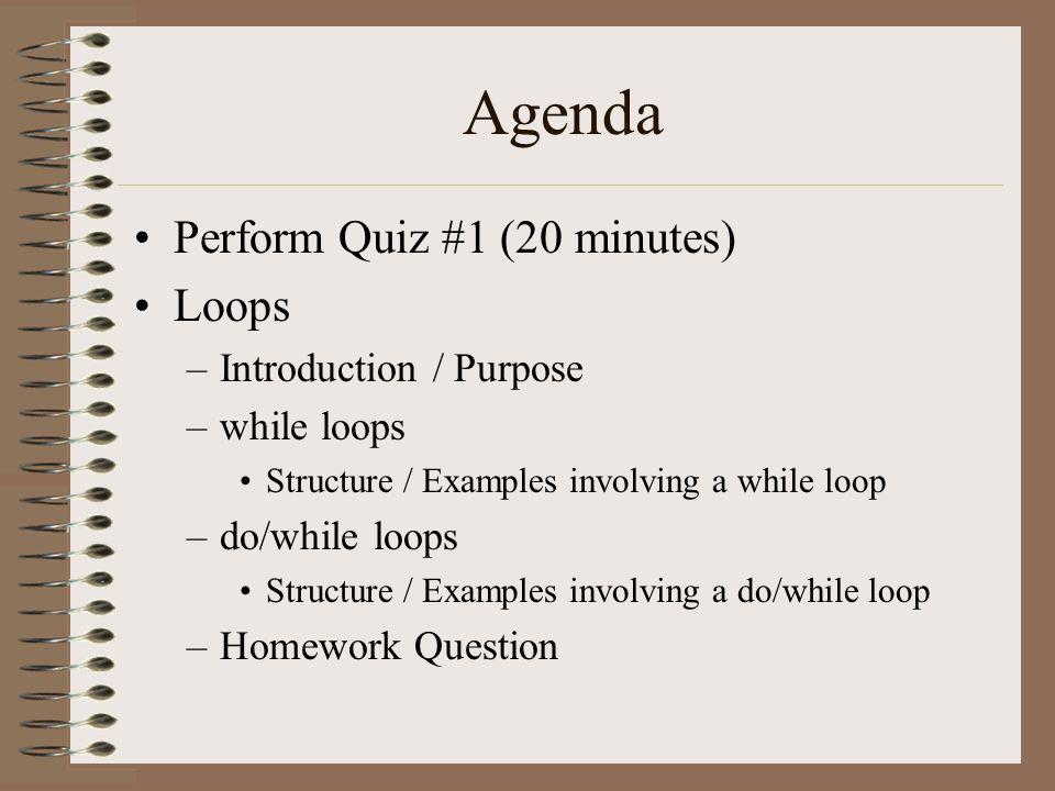 agenda examples