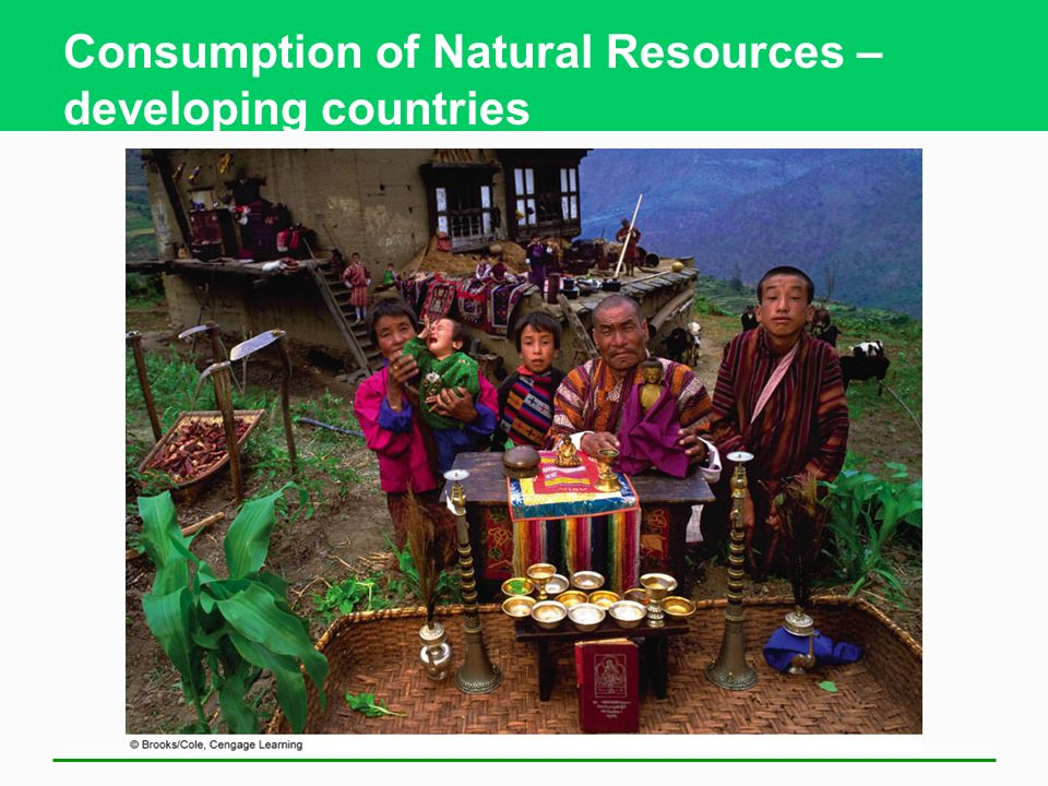 Consumption of Natural Resources – developing countries