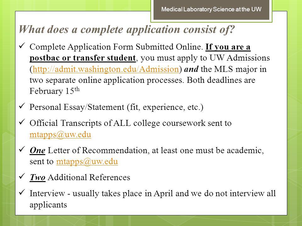 uw transfer student essay