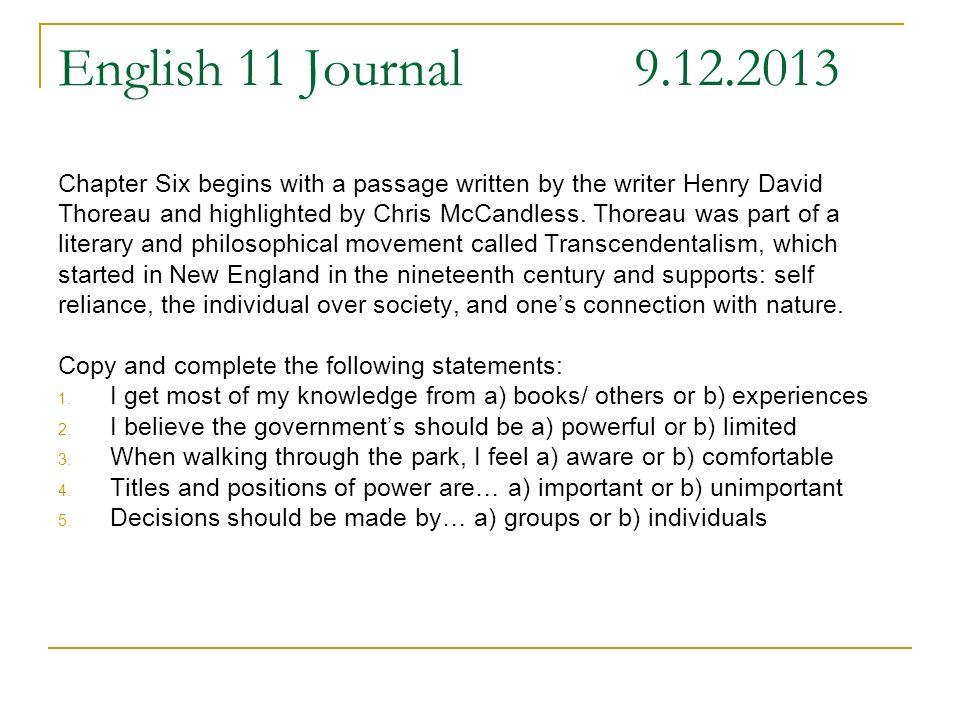 christopher mccandless journal