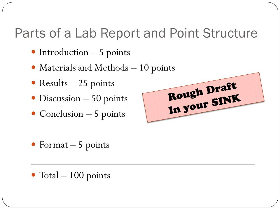 lab report materials and method Tep025 writing the methods and materials section of your laboratory report.