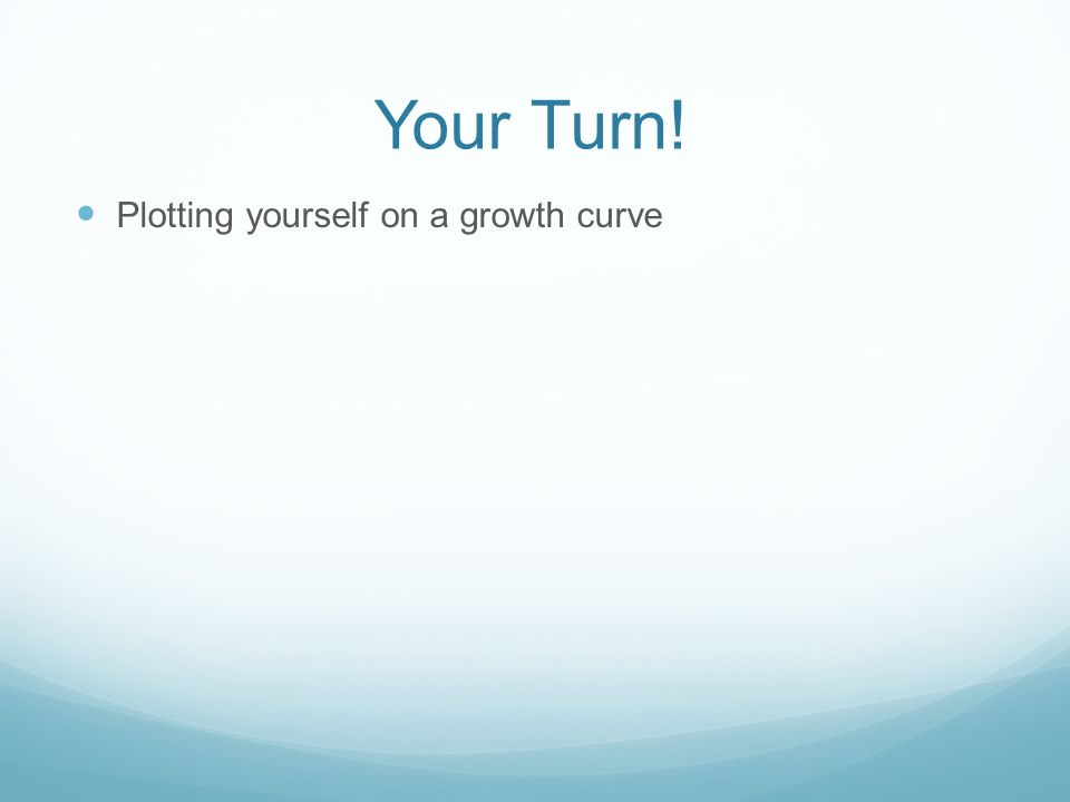Your Turn! Plotting yourself on a growth curve
