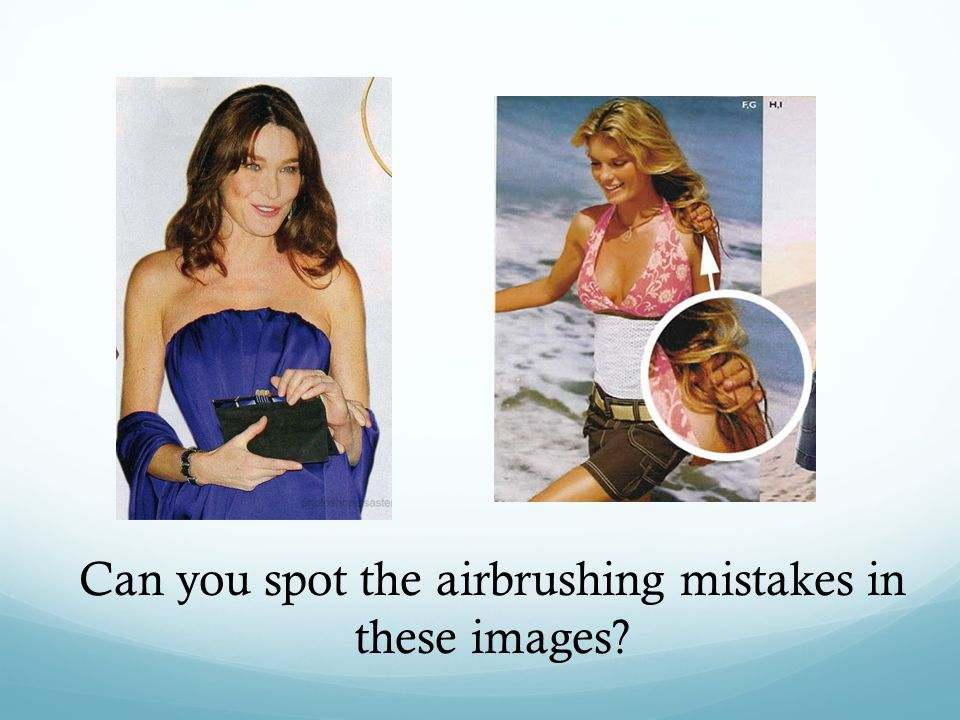 Can you spot the airbrushing mistakes in these images?