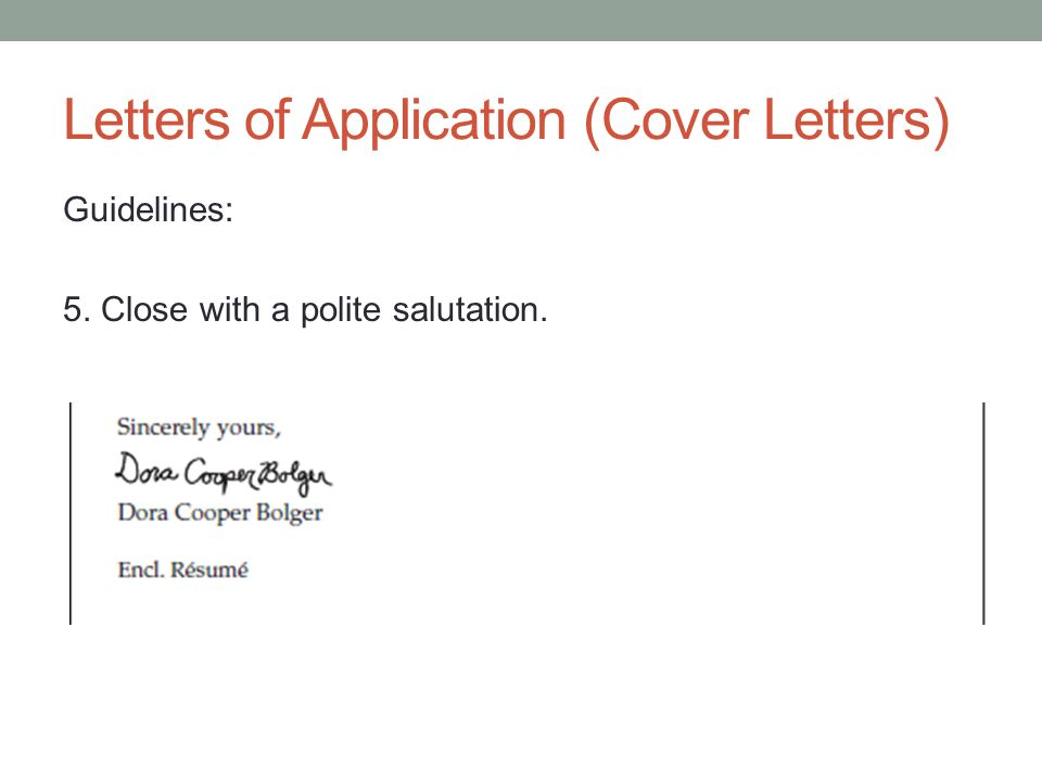 Salutation Cover Letter. Cover Letter Parts Driver Addressing A