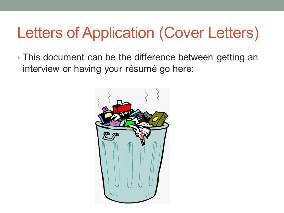 5 letters of application cover letters this document can be the difference between getting an interview or having your rsum go here - Application Cover Letters