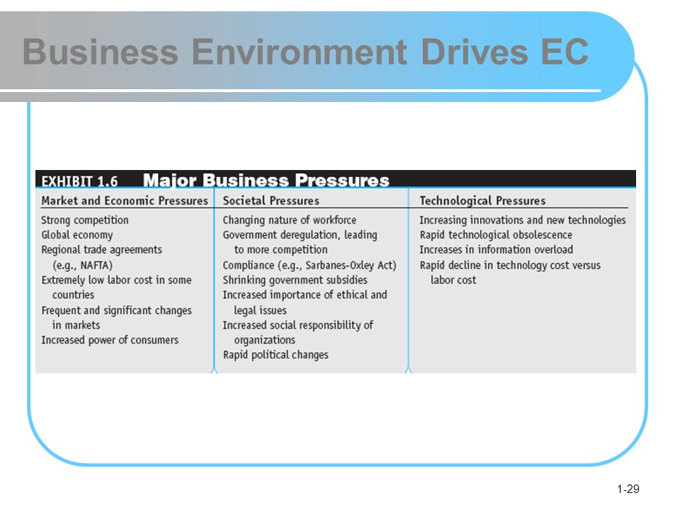 1-29 Business Environment Drives EC