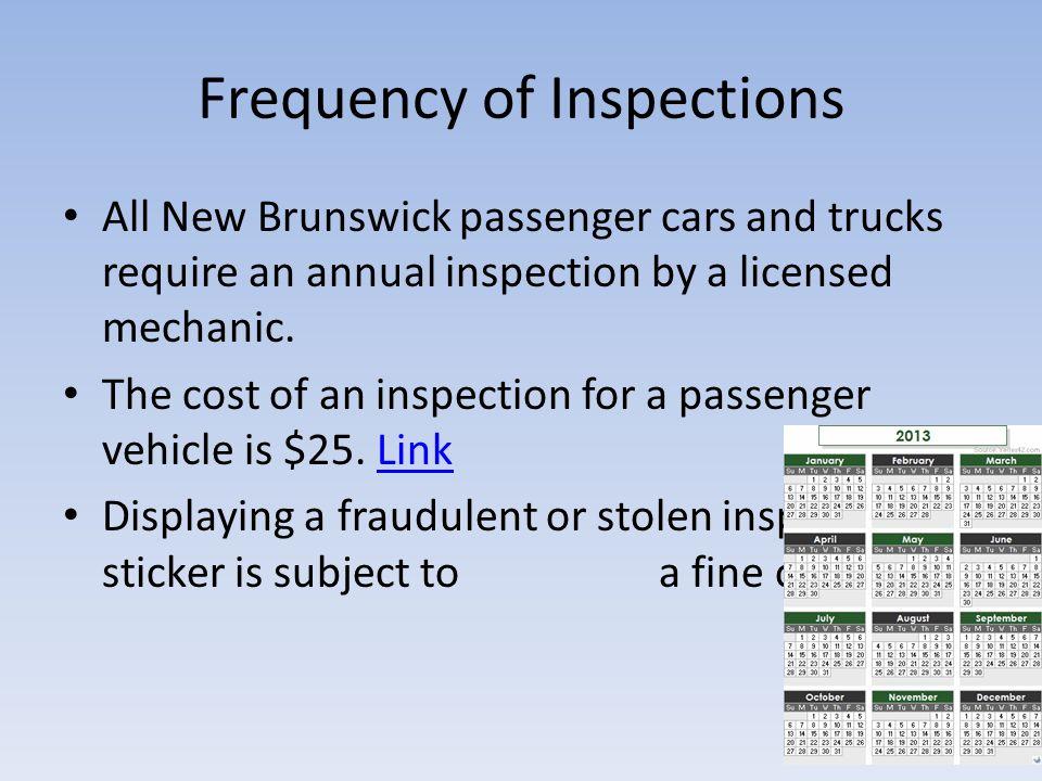 Summary of New Brunswicks Motor Vehicle Inspection Program  ppt