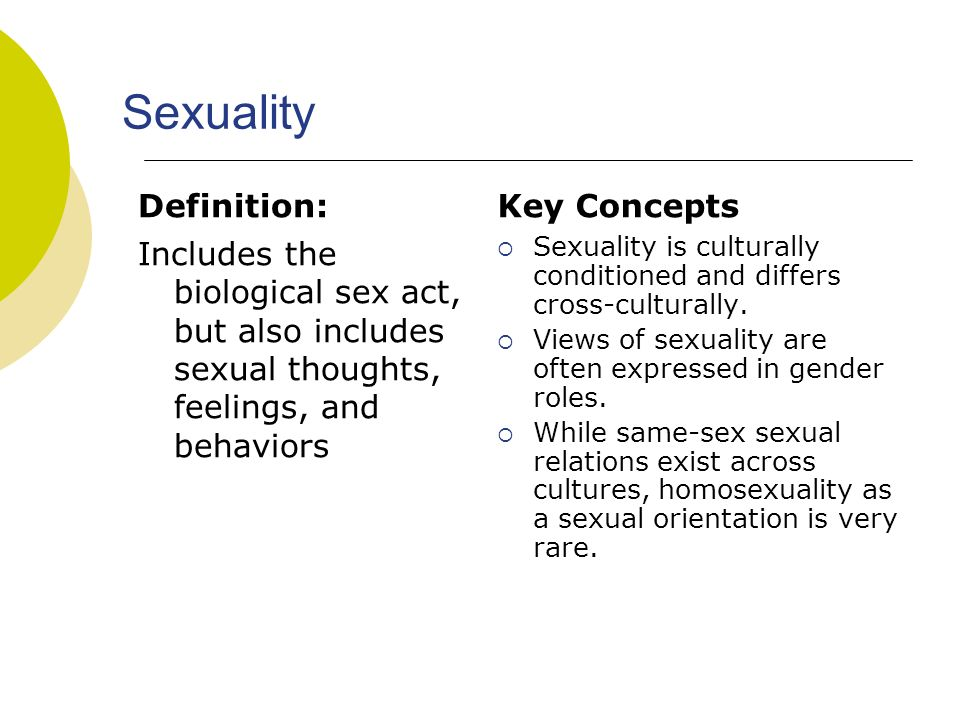 Defination Of Sexuality