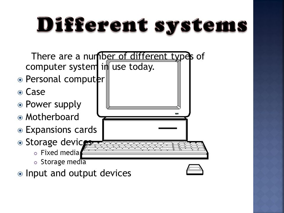 There Are A Number Of Diffe Types Computer System In Use Today
