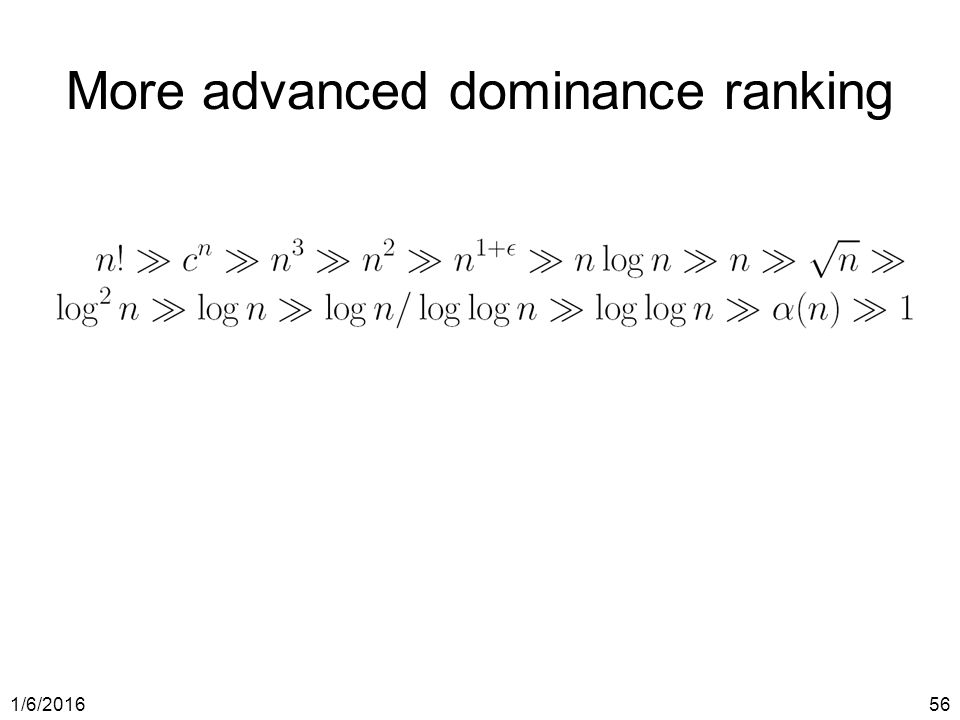1/6/ More advanced dominance ranking