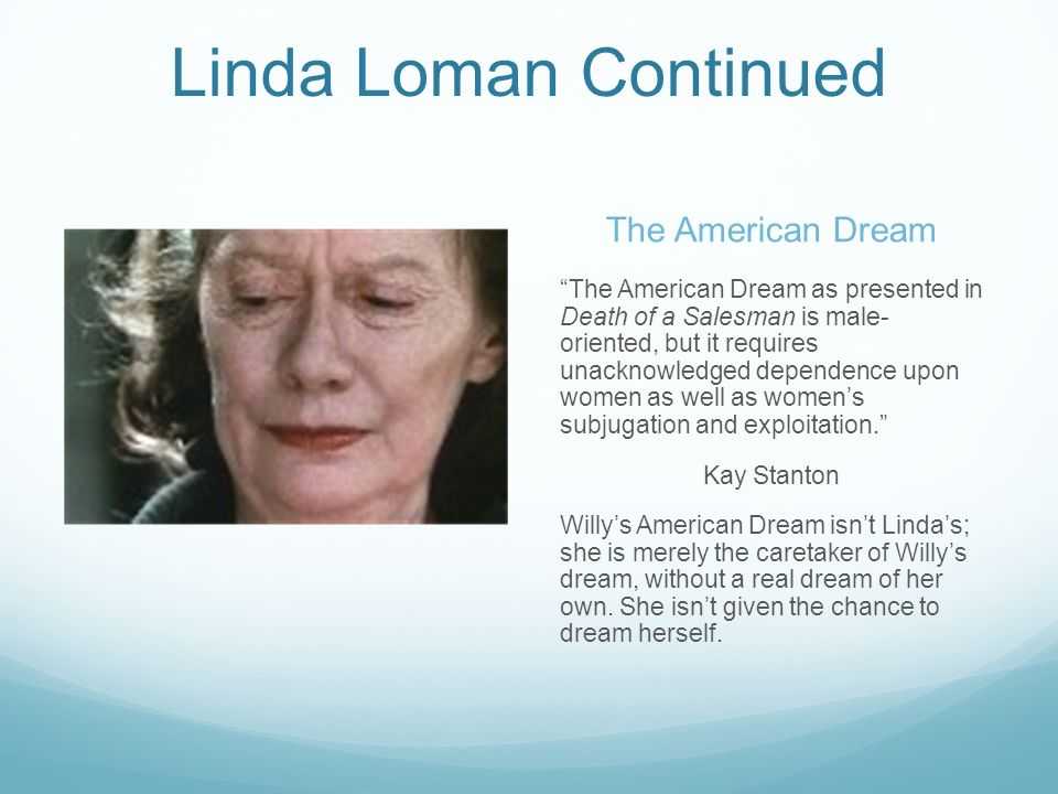 willy loman dreaming the american dream