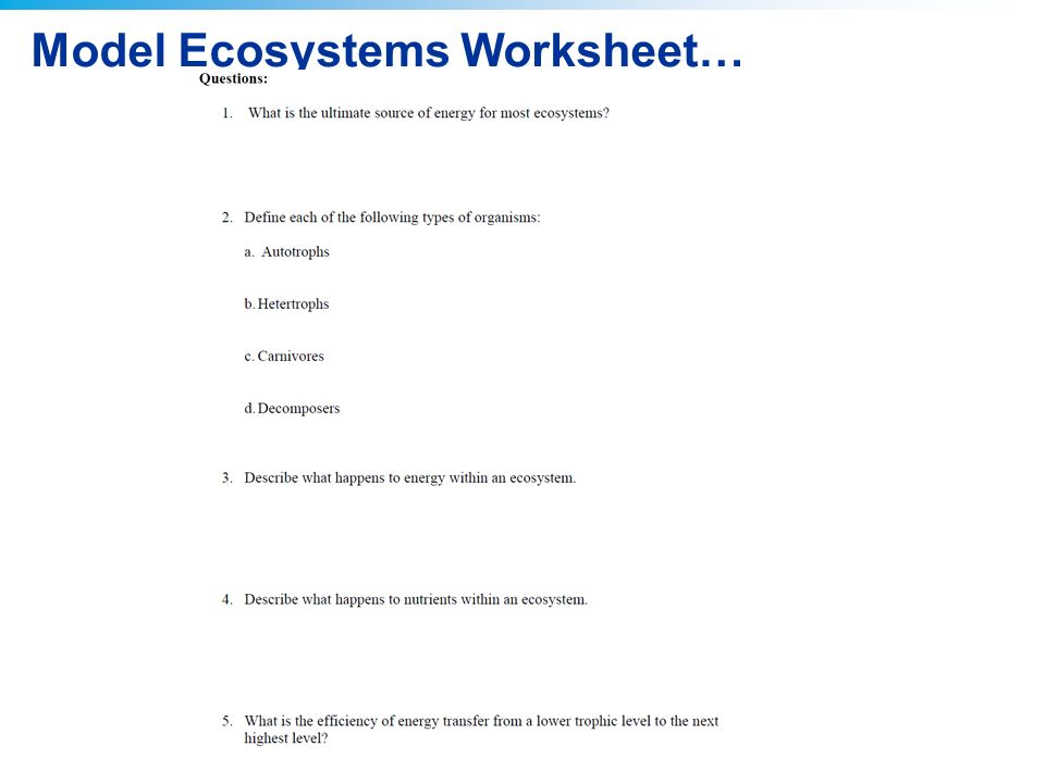 Printables Environmental Science Worksheets 2011 pearson education inc virtual lab modeling ecosystems ap 6 model ecosystems