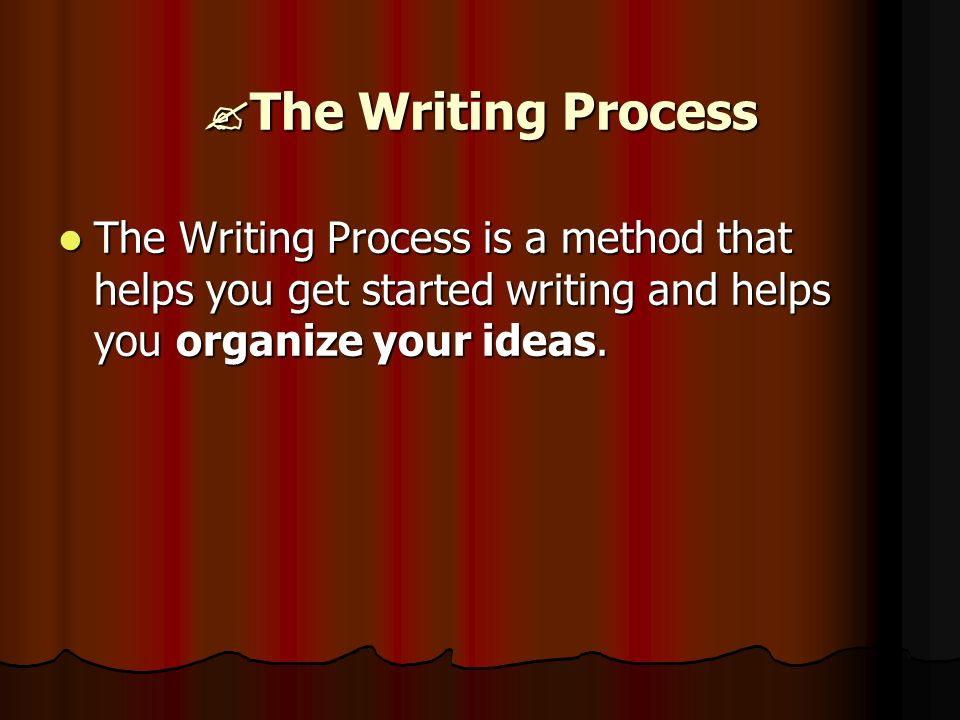 How would I go about writting an academic essay on the writting process?