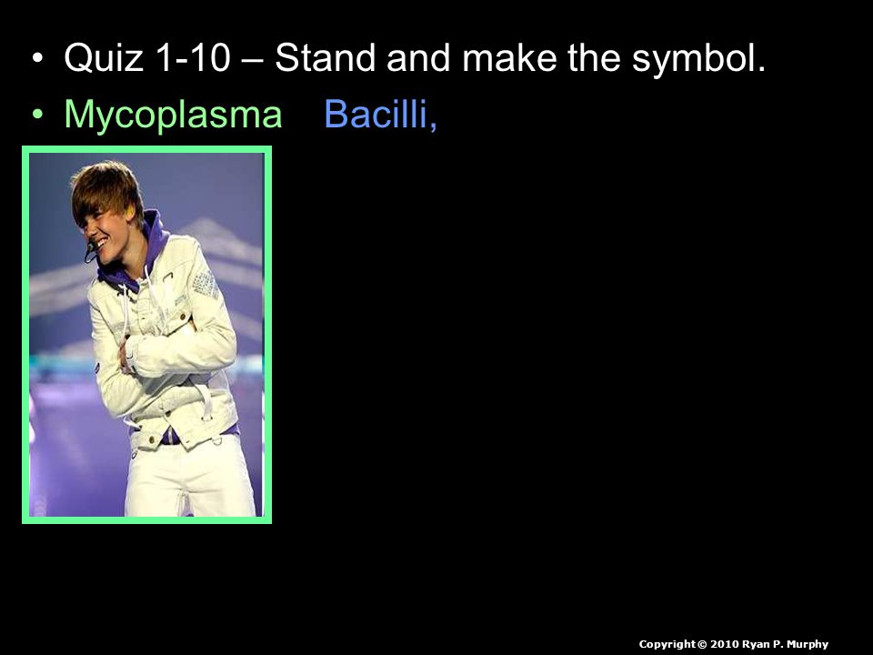 Quiz 1-10 – Stand and make the symbol.
