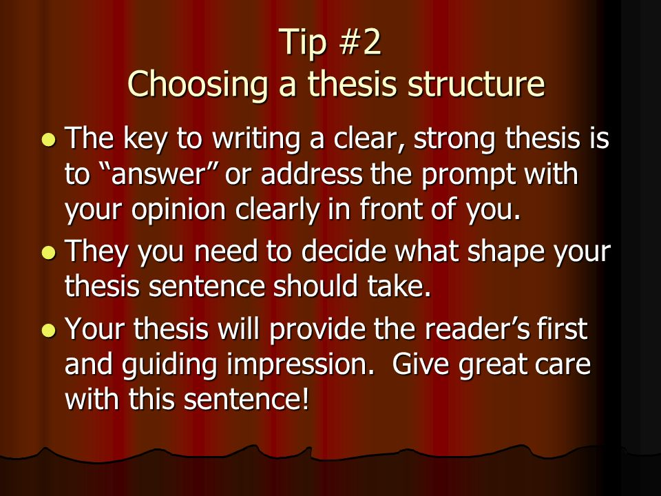 writing a proper thesis Guidelines for the preparation of your master's thesis determine which type of thesis you are writing early in your proper documentation in the published.