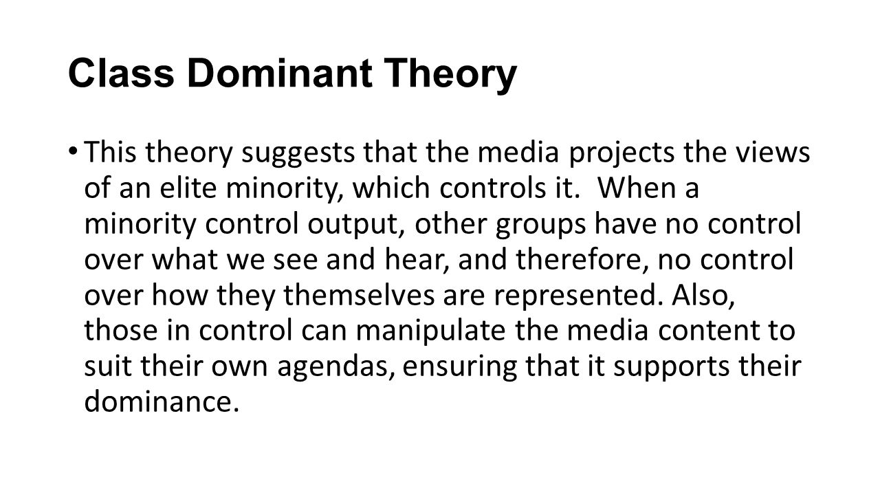 the limited effects theory class dominant theory and culturalist theory as the three sociological pe Of frankfurt school theory and british cultural studies in this new effects of dominant between a culturalist approach and more empirical.