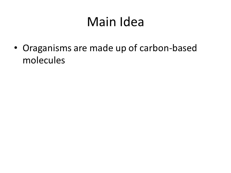 Organic Macromolecules Objective: 9(A) compare the structures and ...