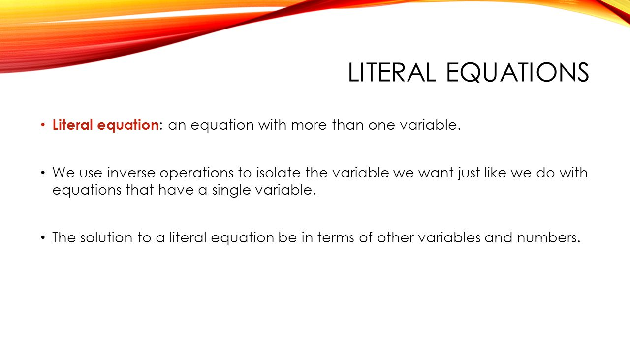 How To Solve Literal Equations Step By Talkchannels