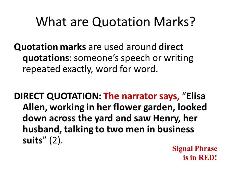 Quotation Marks And Writing About Literature Taken From Rules For