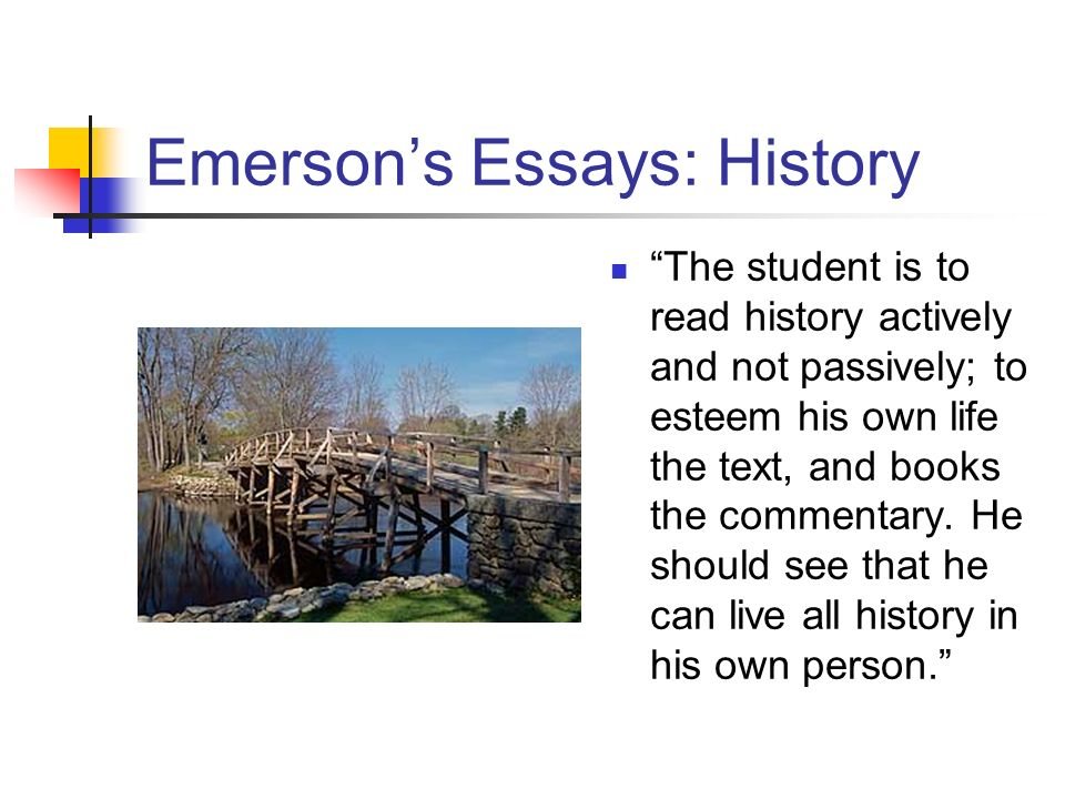 Emerson essay on nature