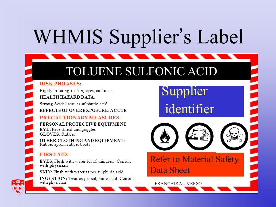 Workplace Hazardous Materials Information System Whmis Hazardous