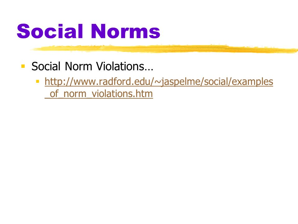 challenging the social norm essay View notes - breaking social norms essay from soc 101 at emory sociology 101: breaking social norms essay - sociology 101 introduction to.