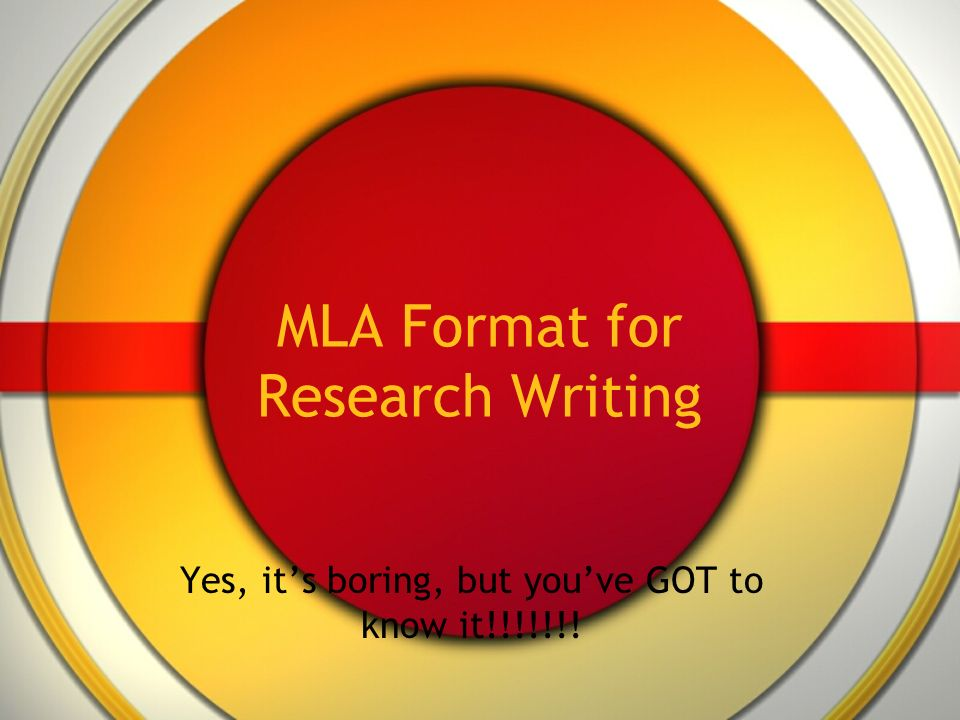 Do you have to write where you got information from in MLA format?