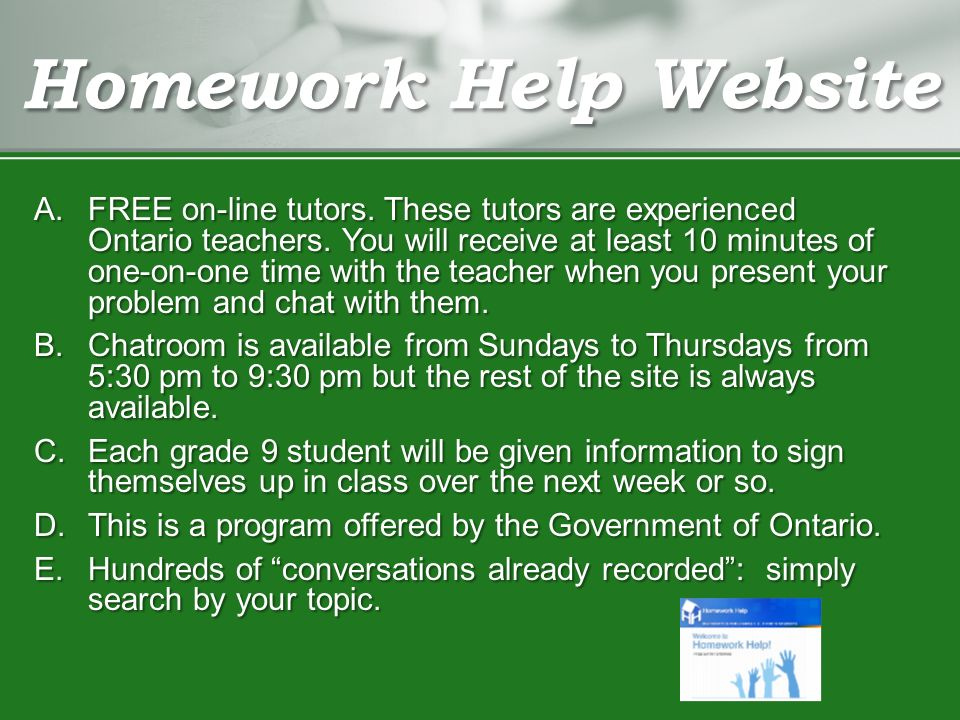 Buy homework helper