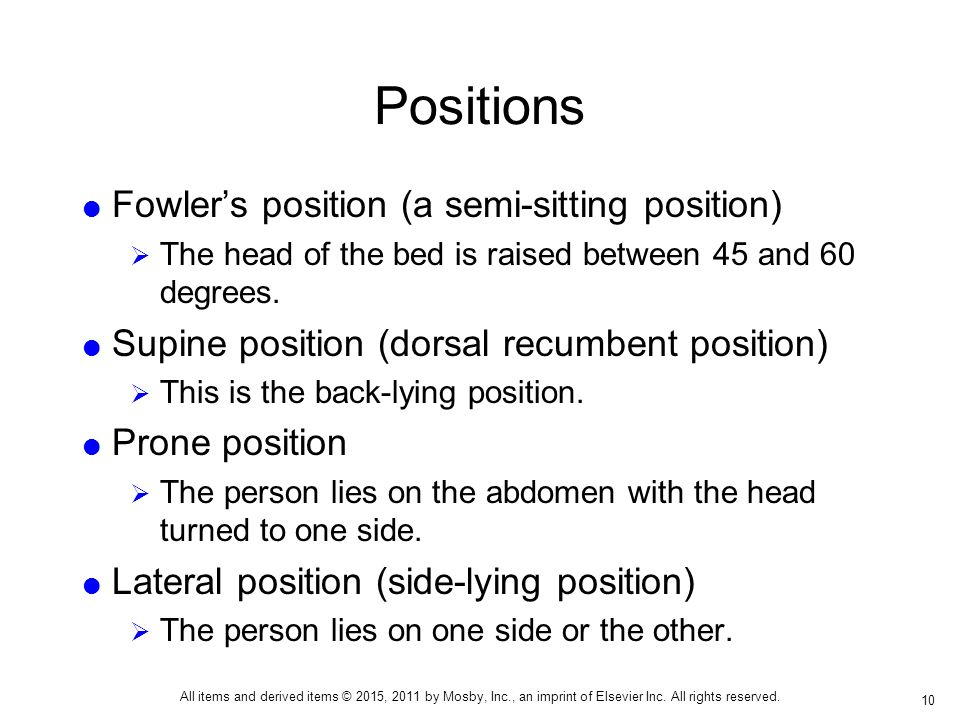 Fowler Position