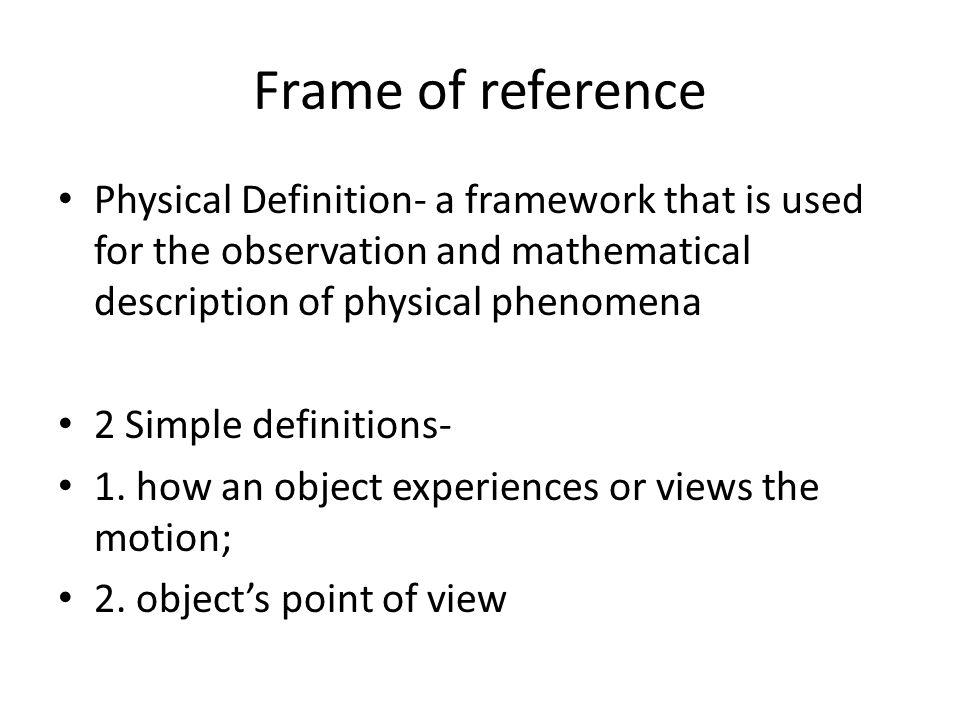 Frame Reference Definition - Frame Design & Reviews ✓