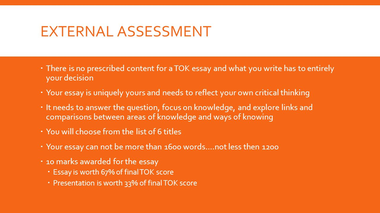 tok external assessment due dates b day monday a day  2 external assessment
