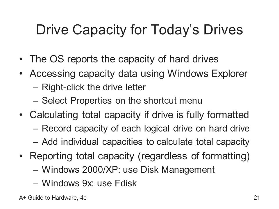 What is a good hard drive capacity?