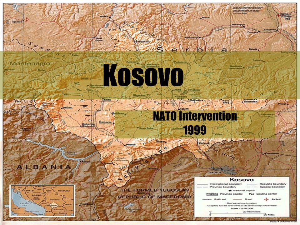 1 Kosovo NATO Intervention 1999