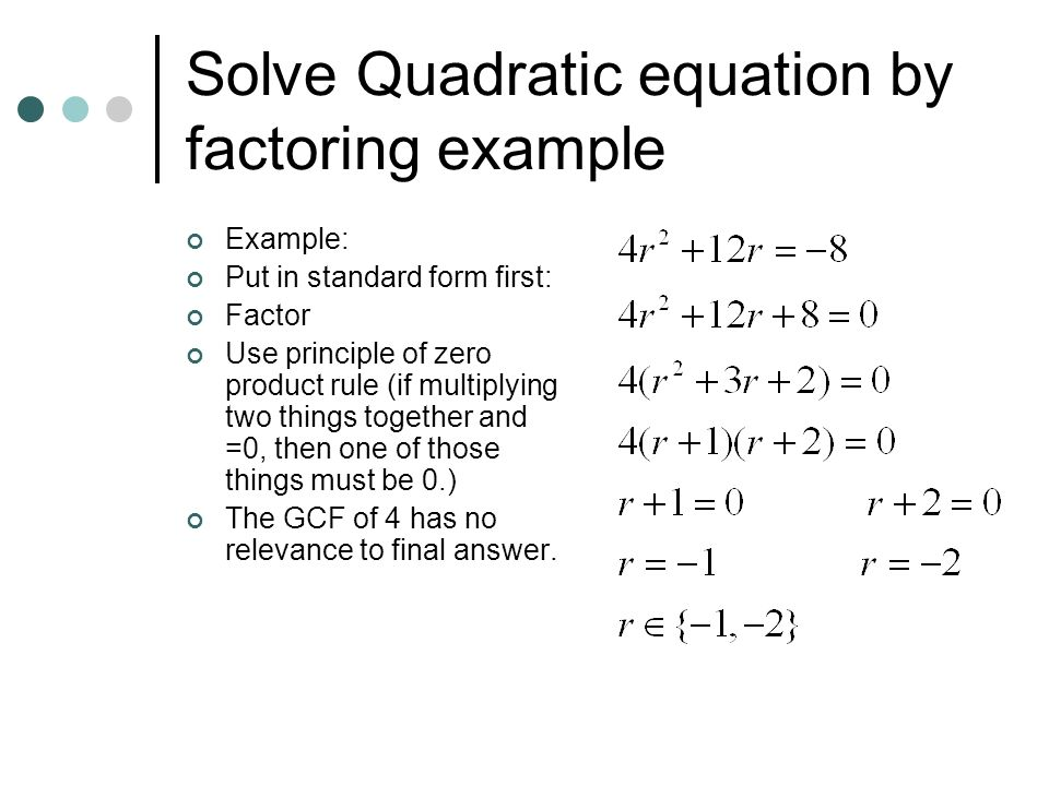 Quadratic Equation Solve By Factoring - Jennarocca