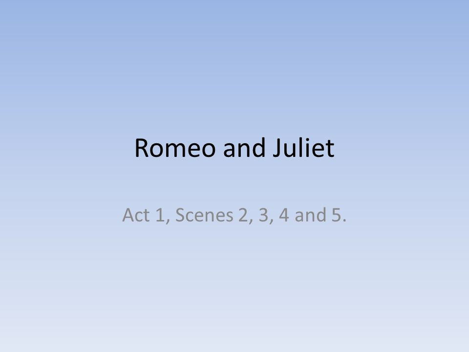 romeo s understanding of love in act