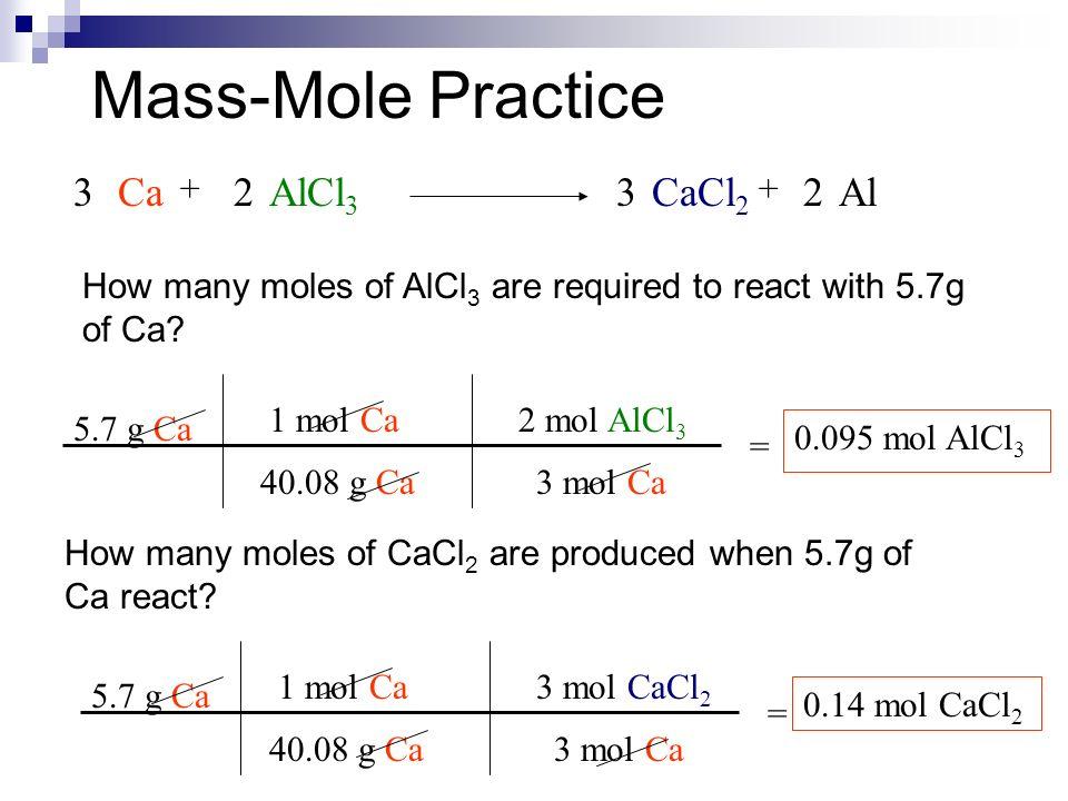 Stoichiometry MoleMass MassMass MassMole Problems Step 1 – Mass-mass Stoichiometry Worksheet