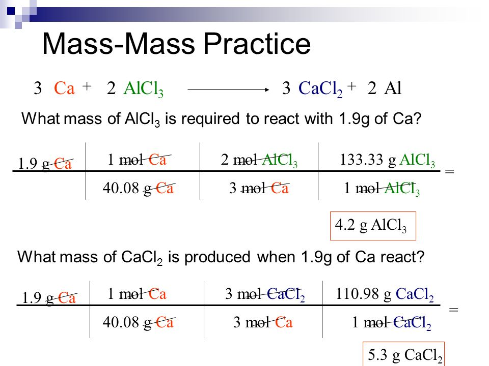 Stoichiometry worksheet mass mass answers