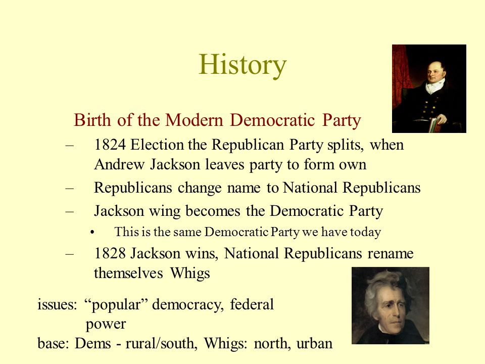 What political party did Andrew Jackson form?