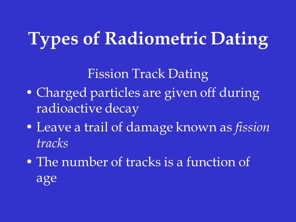 Radiometric dating or radioactive dating