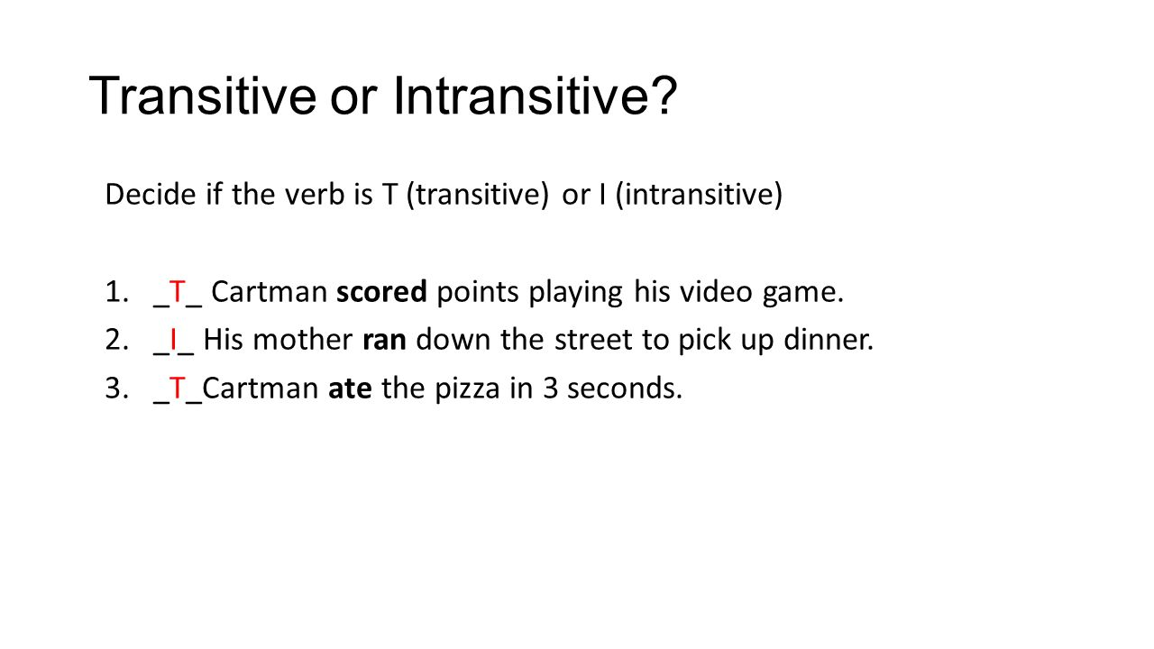 verbs verbs review answers answer the following as best you 4 transitive