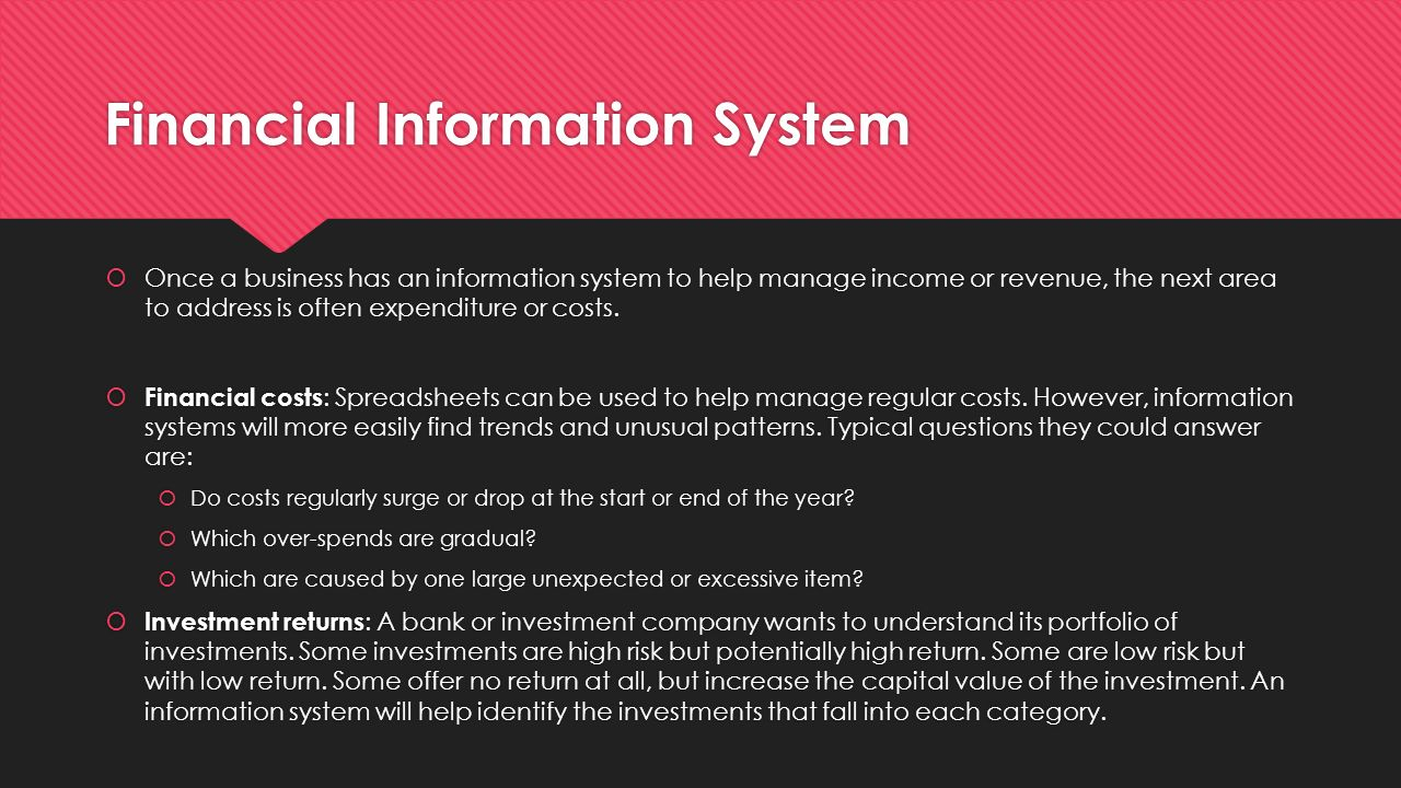 finance infomation systems