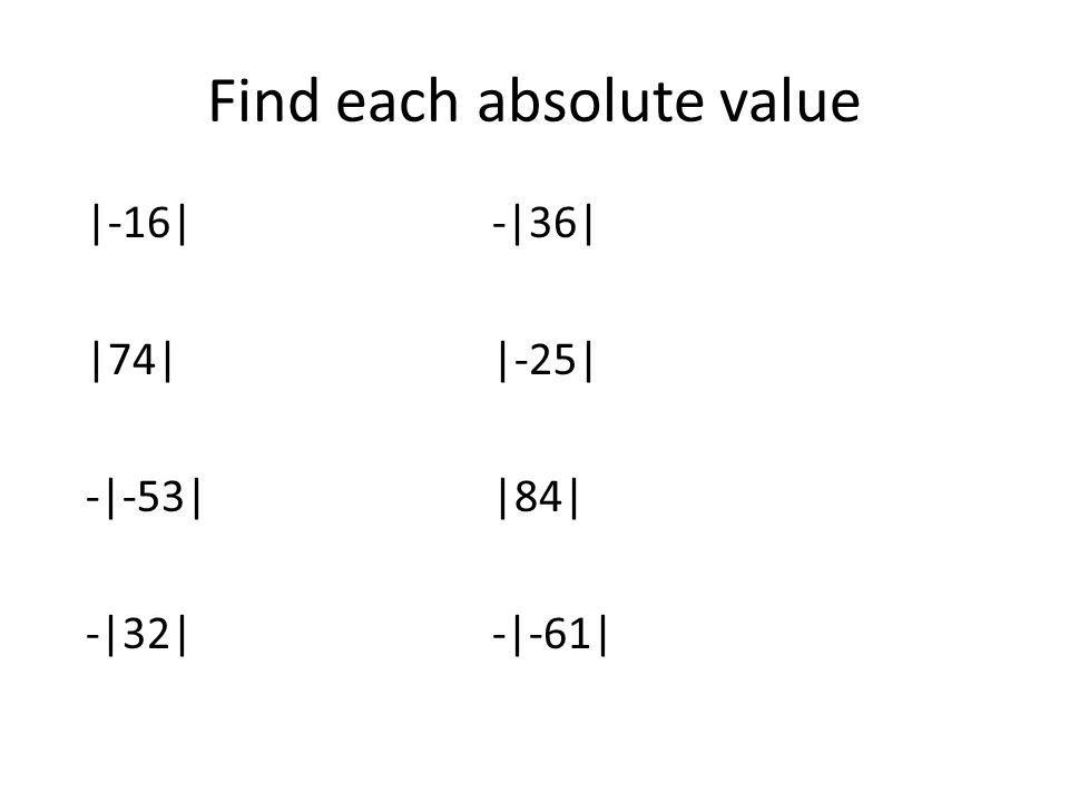 1.8 Number Lines 1.9 Opposites and Absolute Values Warm – up ...