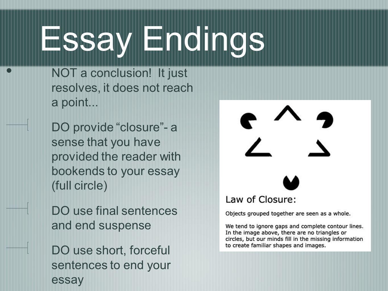 essay endings