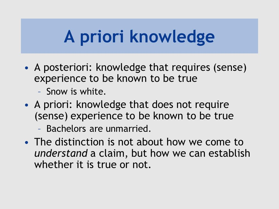 Image result for a priori knowledge