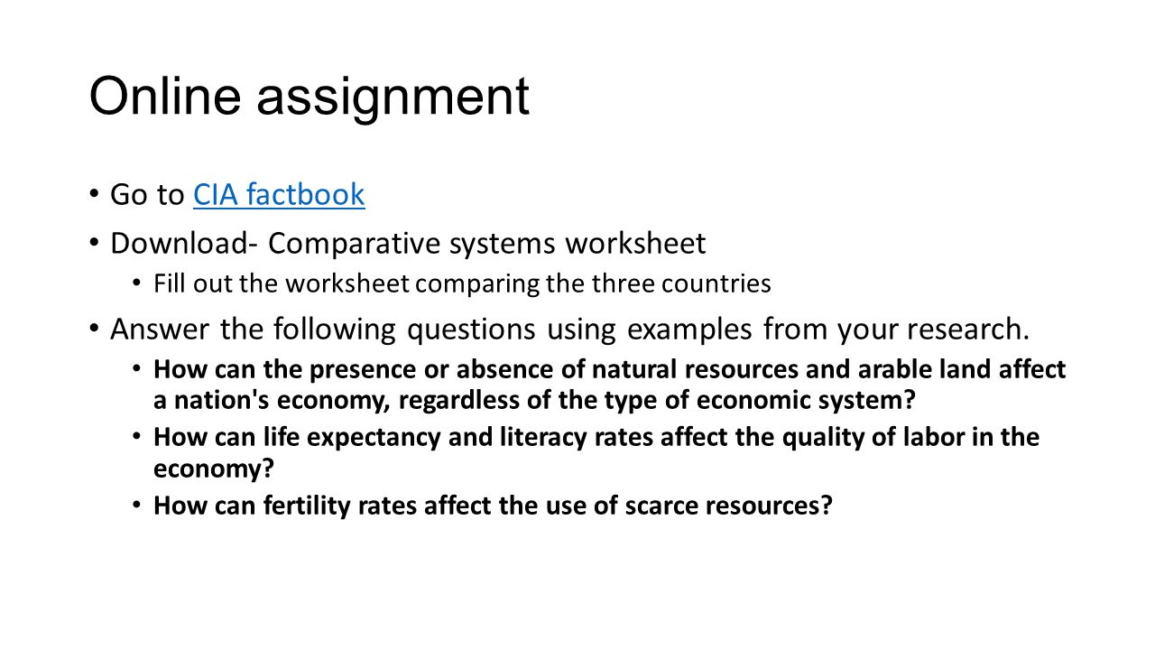 Comparative Economic Systems Worksheet Katinabags – Economic Systems Worksheet