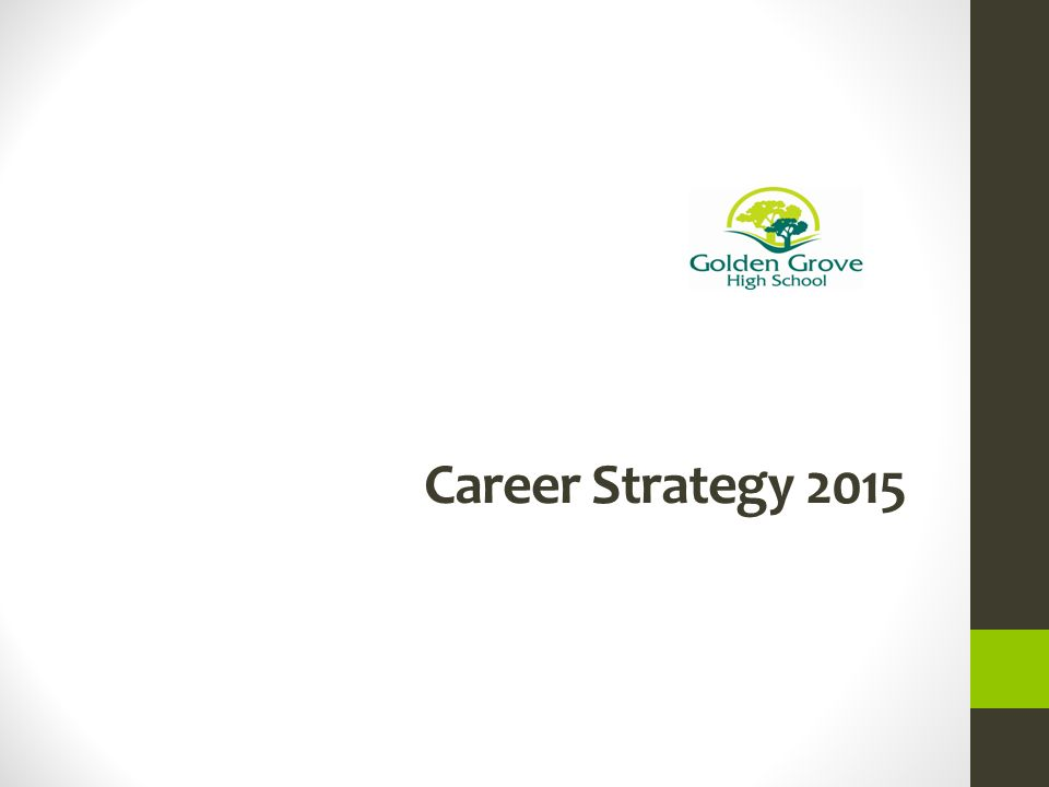 Career Strategy GGHS Action Plan Goals To develop student career ...