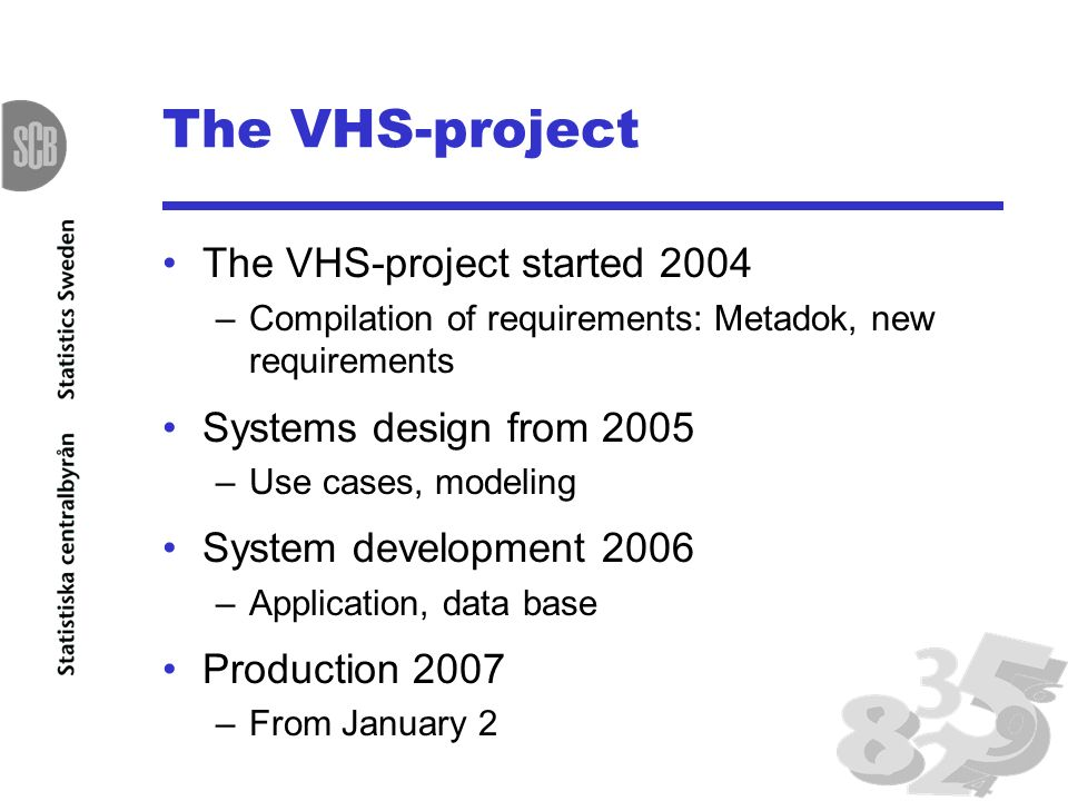 Metaplus klas blomqvist statistics sweden research and development 6 the vhs project the vhs project started 2004 compilation of requirements metadok new requirements systems design from 2005 use cases modeling system sciox Gallery